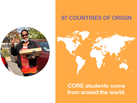 CORE students are from 97 countries or origin.